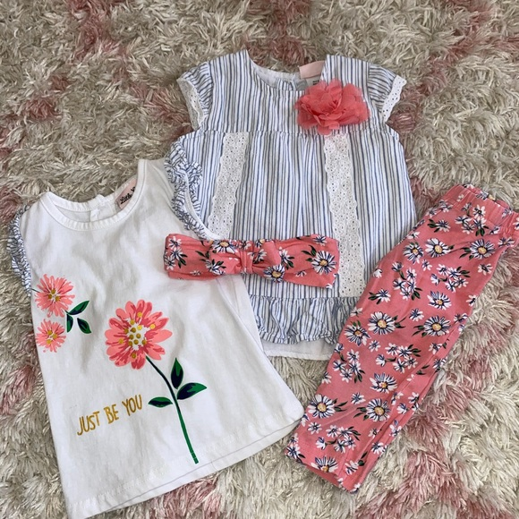 3pc Little Lass Outfit- 24m w. Extra shirt